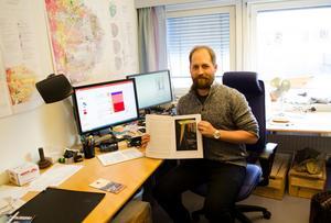 Tobias Kampmann har forskat på malmen i Falu gruva.