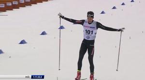 Marcus Hellner glider i mål som svensk mästare.