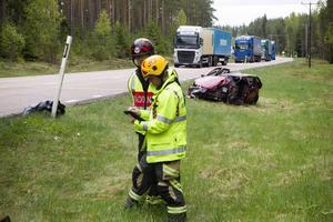 16 maj dog en kvinna i den våldsamma kollisionen på väg 56.