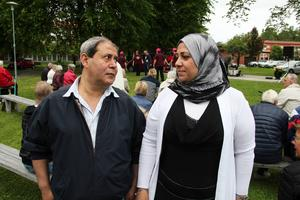 Abdullah Amairy och Manala Rahama deltog i Jungfruveckan. Manala var en av öppningstalarna och talade om vikten av att bygga broar mellan människor.