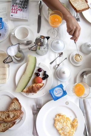 Lyxfrukost på Villa Soro i San Sebastián.   Foto: Annika Goldhammer