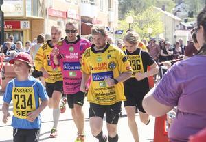 Joakim Jonsson, Dennis Wasberg och Jonas Nygren under Brobergsloppet.