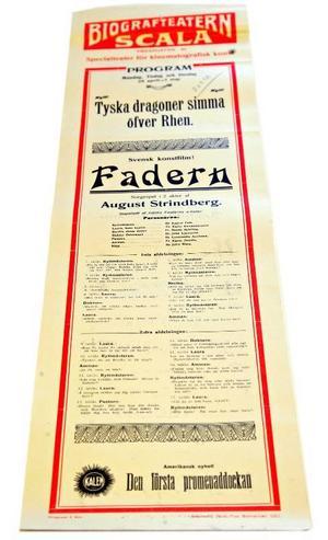Alla de här bioaffischerna är från 1910-talet och de visar utbudet på Månsons olika salonger.