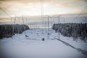 Inspektion av kraftledning mellan Fullsjön och Borgvattnet.