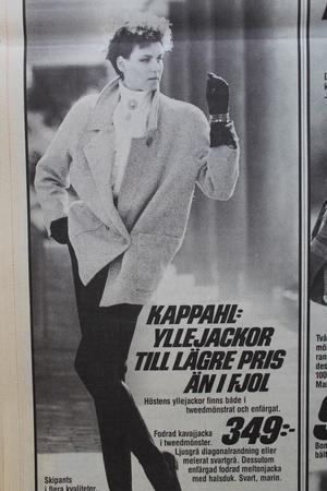 Chic. I mitten av 80-talet var det tydligen yllejackor som gällde för den modemedvetne västeråsaren.