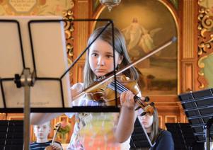 Det blev en finstämd avslutning när elever i musikskolan gav konsert i kyrkan.