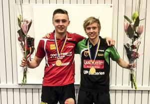 Anton Hjort och Simon Söderlund – JSM-vinnare i dubbel.
