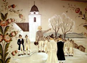 Idealiserat. Decenniet efter Gustaf Näsströms berömda kritiska studie av dalaidealet målades i hemvärnsstugan i Rättvik en bildsvit som ska illustrera Gustav Vasas äventyr, ett exempel på hur Dalarna vårdat och framställt självbilder från landskapets påstått heroiska förflutna.
