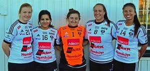 Hannah Claesson, Maria Rodriguez, Tori Christ, Josefin Lundgren, Malin Bork.