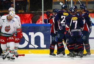 Linköpingsjubel efter 6-2-målet.