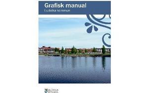 Det här är ett exempel på nya grafiska profilen för kommunen i trycksaker, på dekaler och skyltar med mera. Foto: Ludvika kommun