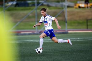 IFK Luleås Joel Rajalakso gjorde hattrick mot Härnösands FF i cupmötet på Högslätten.