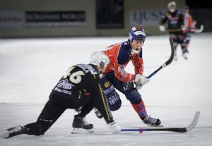 Juho Liukkonen skrev på för ett år till i Bollnäs – och dundrade in 3–0 på ett distansskott.
