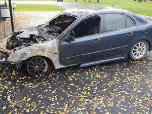 Bilen stod parkerad utanför Timrå kyrka.