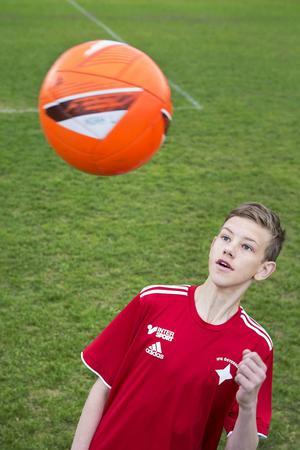 Noah Lindh ska delta i årets Storsjöcup med sitt lag IFK Östersund P14.