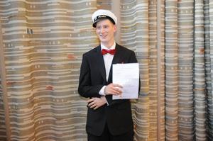 Sebastian Rosén fick ett stipendium från Åkeriföreningen mittåkarna.
