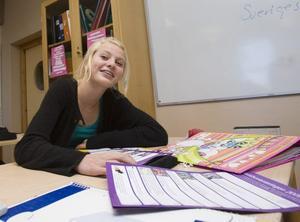 Knepigt. Maja Nyström i klass 8 AB är tveksam till att skolans resultat leder till en seger även i år. Speciellt utslagsfrågorna var riktigt svåra, menar hon.
