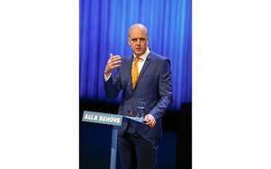 Fredrik Reinfeldt på Moderaternas arbetsstämma i Norrköping. Foto: STEFAN JERREVÅNG / TT