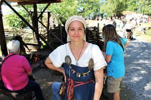 Britta Zetterström Geschwind är en av grundarna till vikingabyn.