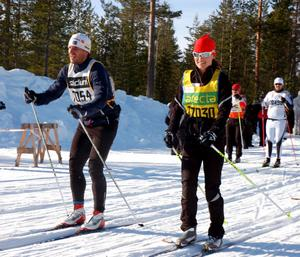 Pippa Middleton och Jöns Bartholdson, Axa sports club, framme i Risberg.