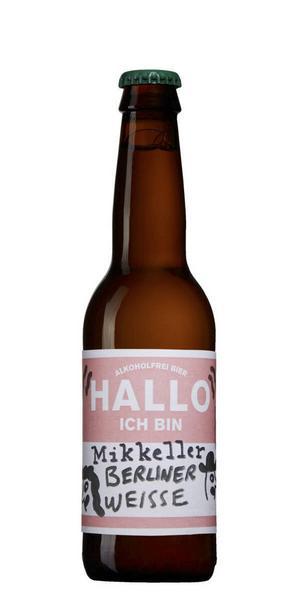 Mikkeller Hallo Ich Berliner Weisse      Artikelnr: 1943   Pris: 16,90 kr   Storlek: 33 cl   Alkoholhalt: 0,1 %   Mycket frisk syrlig och något söt smak med fruktiga undertoner som är lätt att uppskatta. Den enda syrliga ölen bland de alkoholfria ölen och just syran fyller ut det smakmässiga tomrum som alkoholen lämnat.