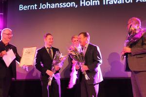 Bernt Johansson, Holm trävaror, fick priset som Årets företagare i Sala i hård konkurrens med Mikael Ek, M Ek AB och Jan Jonsson, Olle Jonssons Mekaniska verkstad.