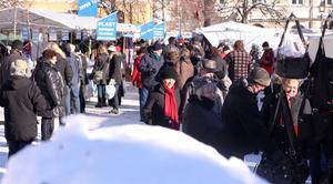 Lördagens marknad var riktigt vintrig.