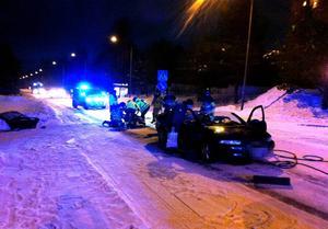 Olycka på Lasarettsvägen under morgonen.