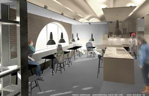 En öppen och enkel planlösning ingår i konceptet (bilden är animerad).