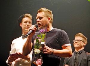 Hjalle Östman i Mimikry som vann priset för Årets låt med