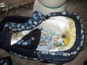MÖGEL. Barnvagn, kläder, kökssoffa, madrass och en sadel blev vatten- och mögelskadad.