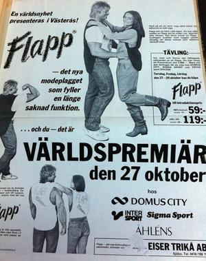 Annons i vlt 21 oktober 1983.