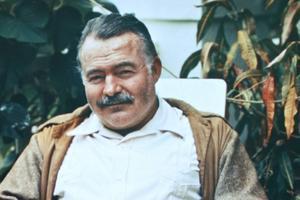 Ernest Hemingway på ett foto från 1940-talet.