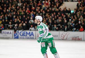 Ted Bergström trivdes på isen i den tajta matchen mot Hammarby.
