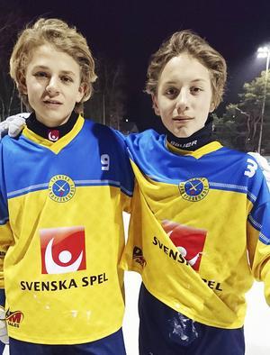 Elias Swartswe och Isak Flodberg – två talanger från Ljusdals BK på mittfältet i P15-landslaget.