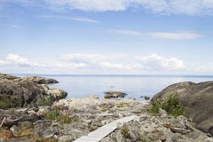 Brämön – en av de platser som satte värmerekord i Sverige förra året.