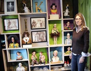 Margareta Persson i sitt galleri.