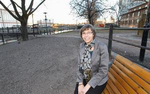 Projektledaren för förändringen av årummet Karin Eliasson. Foto: Curt Kvicker