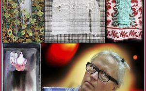 Katarina Björn – textilkonstnär och akvarellist – ställer ut i Borlänge. Foto: Staffan Björklund