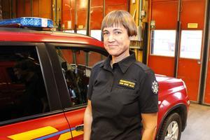 Karin Kebbe Helin, sotningssamordnare på räddningstjänsten i Norrtälje.