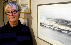 Lena Lilliehöök närmare sig Lerins grå uttryck i sina akvareller