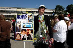 Förväntansfull. Magnus Pettersson i SPEI3 är en av många avgångsstudenter från Hedemora som väntat på examensdagen och vuxenlivet som nu tar vid.