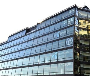 Dice kontor i Glashuset i Stockholm.