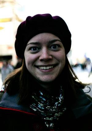 Sara Handzic, 22,  Frösön:– Nej, jag har inget våffeljärn.