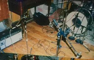Bild från studion Rub-A-Dub och inspelningen av
