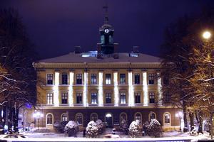 Rådhuset i julskrud, december 2012.