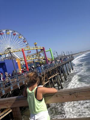 Tivolit på Santa Monica-piren i Los Angeles är ett klassiskt landmärke.   Foto: Emeli Emanuelson