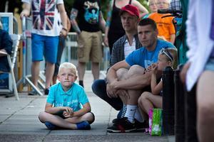 Rasmus Bergner 7 år, till höger.