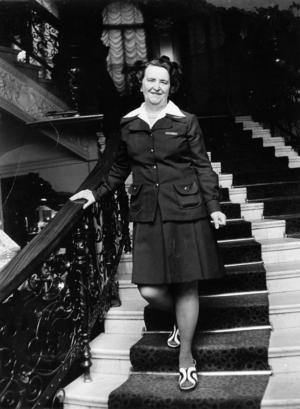 Frida Thorén var ständigt redo att serva hotellgästerna på Knaust.