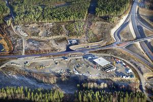 Strax norr om Max, utmed trafikleden, planeras Biltema att byggas.